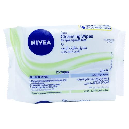 مناديل نقية لتنظيف الوجه من نيفيا - 25 منديل