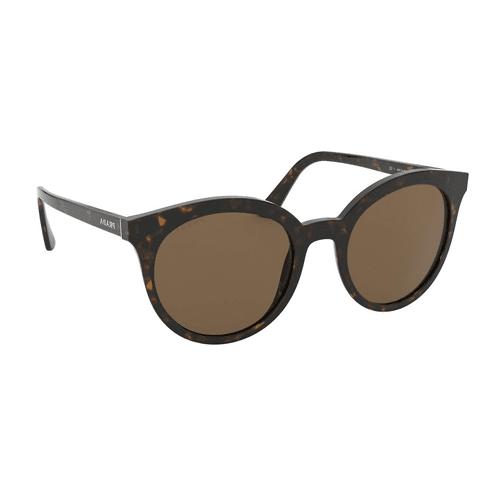 نظارة شمسية مستديرة بنية هافانا من برادا للنساء - SPR02X
