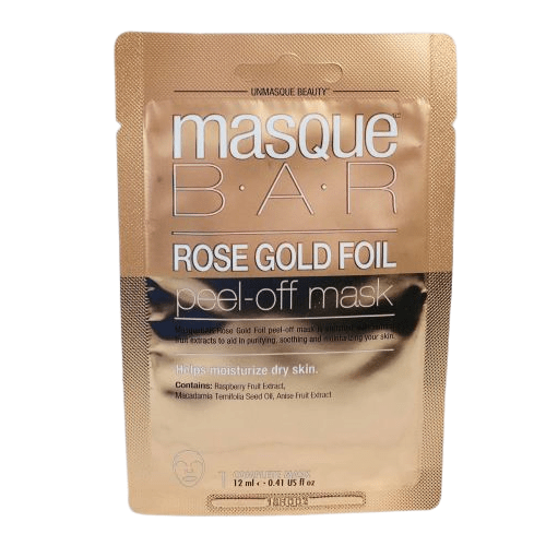 قناع التقشير بورق الذهب الوردي من ماسك بار - 12مل