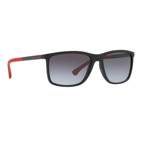 نظارة شمسية بإطار أسود مطفي من ارماني للرجال - EA4058